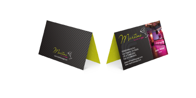 FoldOver Business Card Printing - Folded business card template
